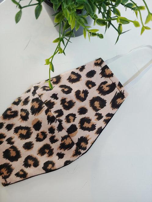 Pinkish Animal Print Mask