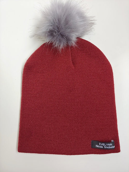 Burgundy EV Toque - Smoke