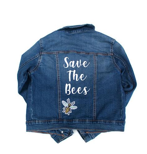 Save The Bees Denim Jacket