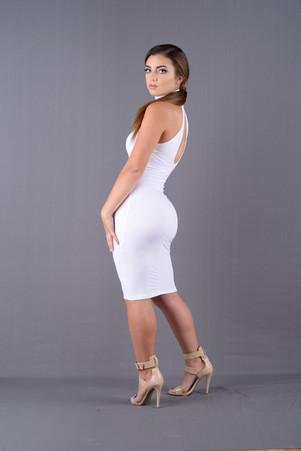 White midd dress