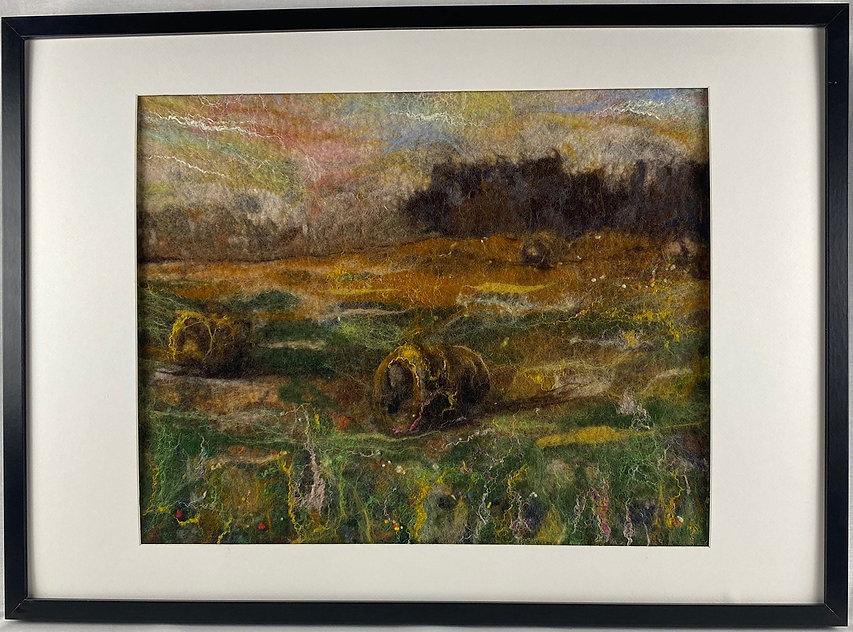 Anderson, Patricia-Hay Bales - framed.jp