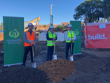 SOD-turning ceremony with Woolworths at Kirrawee in the Sutherland Shire