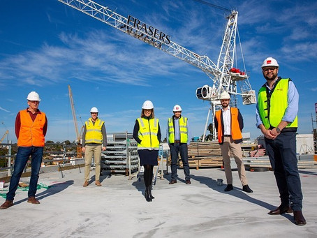 Burwood Brickworks Apartments have topped out