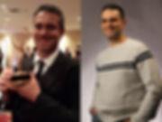Matthew Golub after winning a NY Emmy