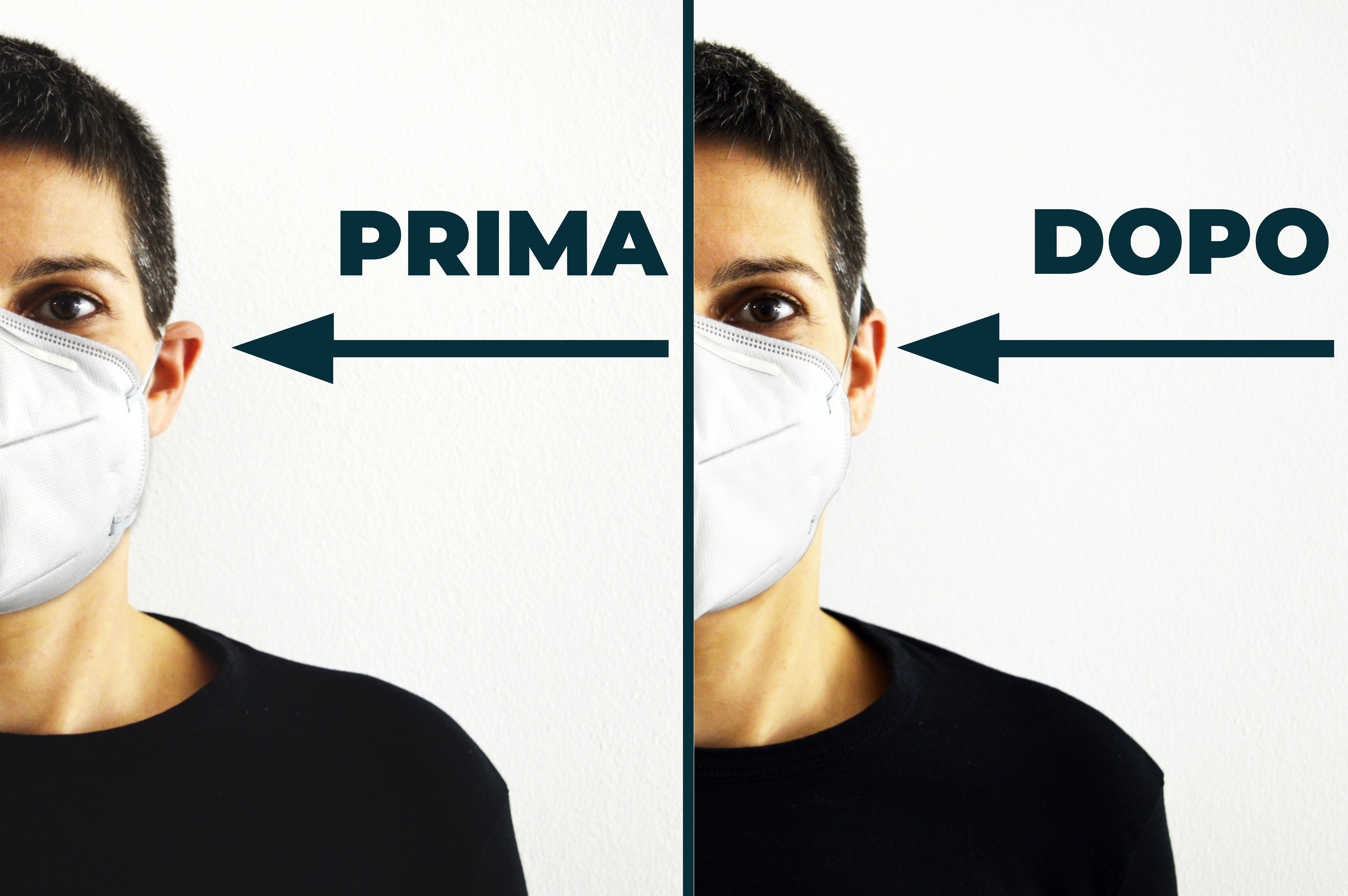 lacci regolabili per mascherina