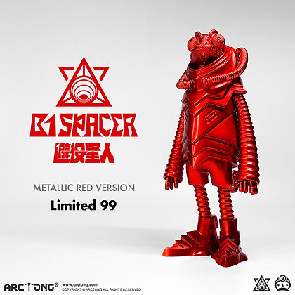 B1 SPACER Metallic Red LIMITED 99 PIECES VERSION 避役星人 紅色限量版