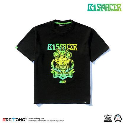 B1 SPACER 避役星人 - Print T-Shirt (BLACK)