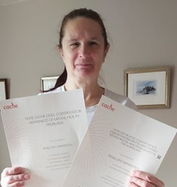 Congratulations to Penny Grimsditch for passing her Level 2 certificate in Understanding Mental Heal
