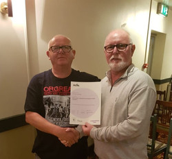 Joe Knapper  E&D Certificate from Ronnie Draper