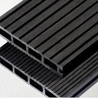 black composite deck