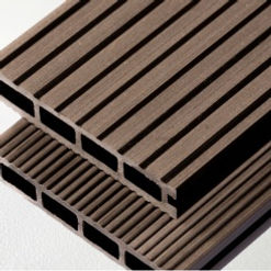 Hollow composite decking board