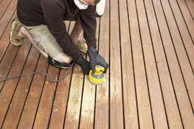 wood decking sanding