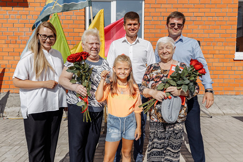 Радостный праздник новоселья прошёл 20 июля 2021 на улице Совхозной города Куровское.