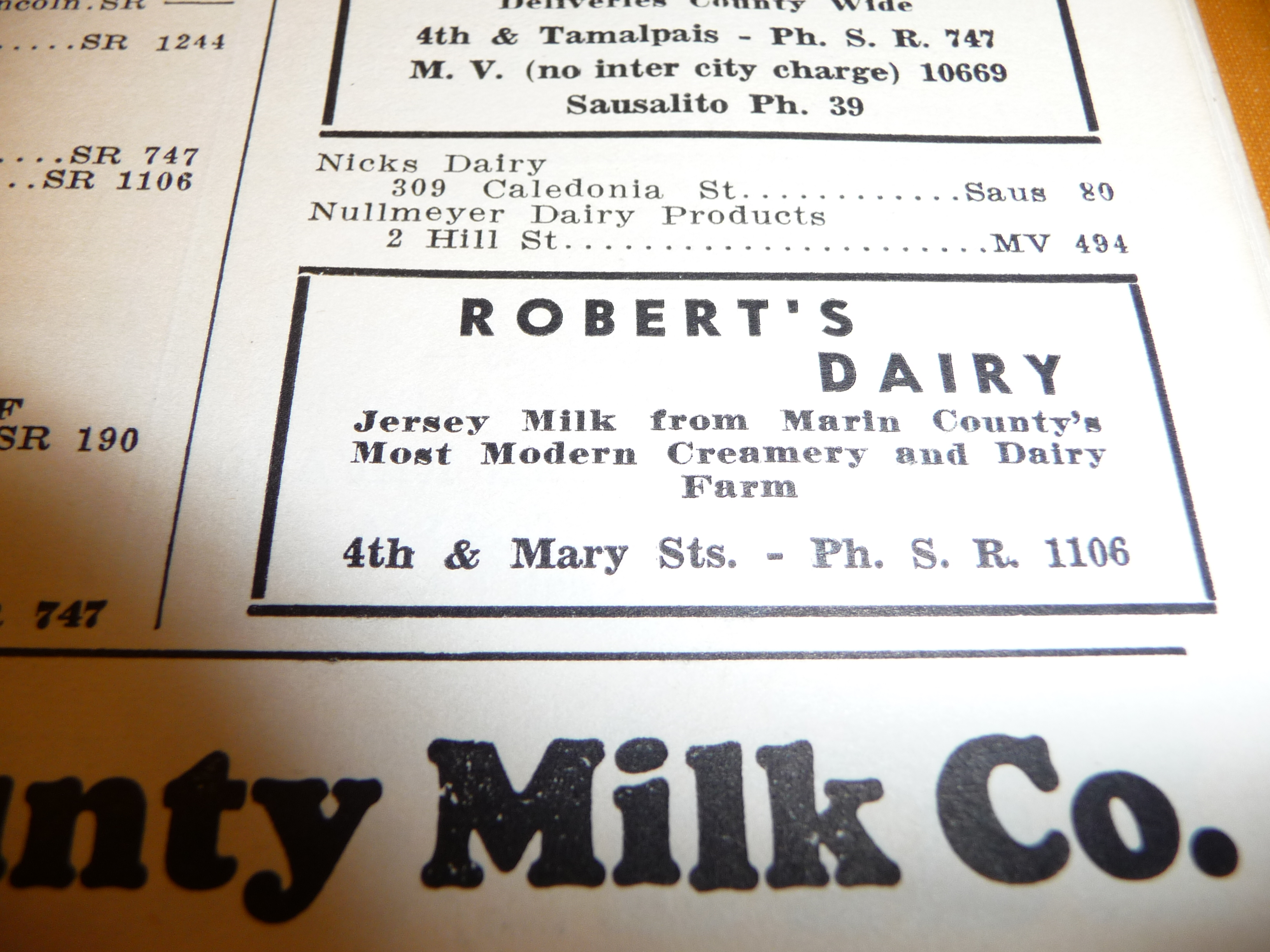 dairy ad 1939