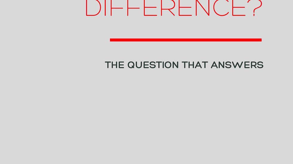 How Can I Make A Difference?
