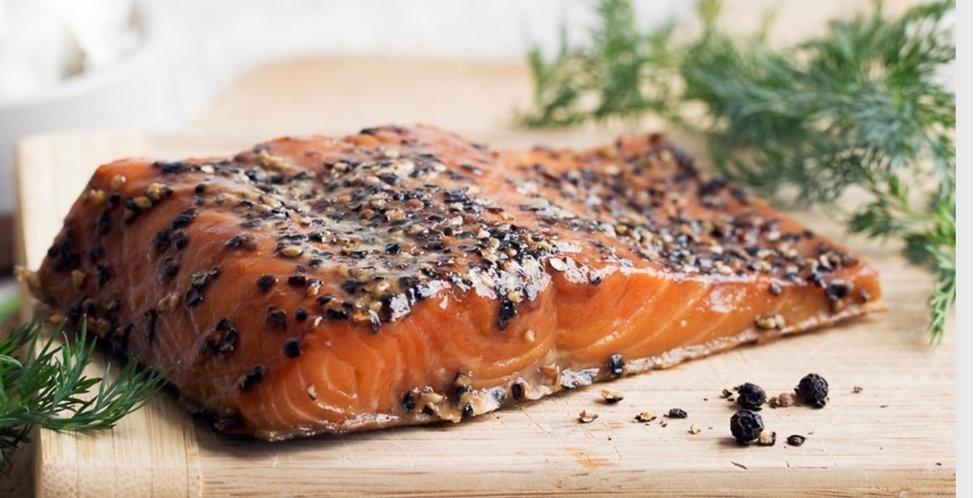 Hot Smoked Salmon (Pepper)