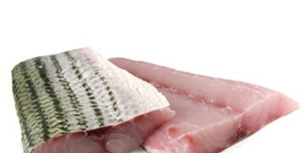 Striped Bass Fillet, Wild Caught Local. (2 Fillets, 1Lb.)