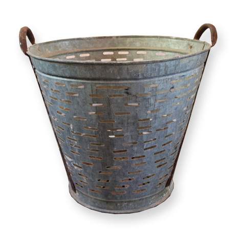 Vintage olive basket with handles.  Dimensions:16 x 14 Quantity: 2