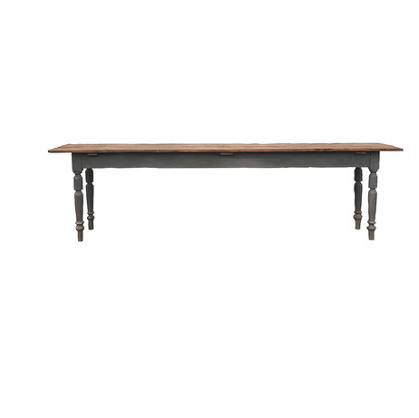 Slim Farmhouse Table  Simple vintage farmhouse table.    This table could sit up to 8 people.  Dimensions: 32 x 20 x 69 Quantity: 1