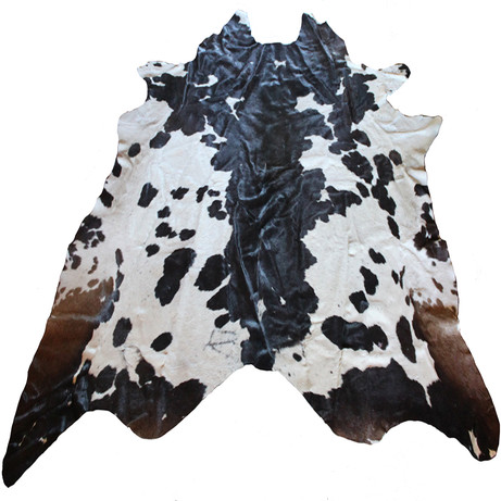 Large brown and black cowhide.  Quantity: 1