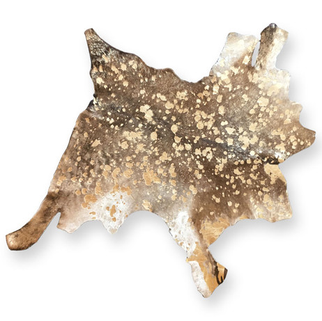 Hints of gold in this small cowhide.  Quantity: 1
