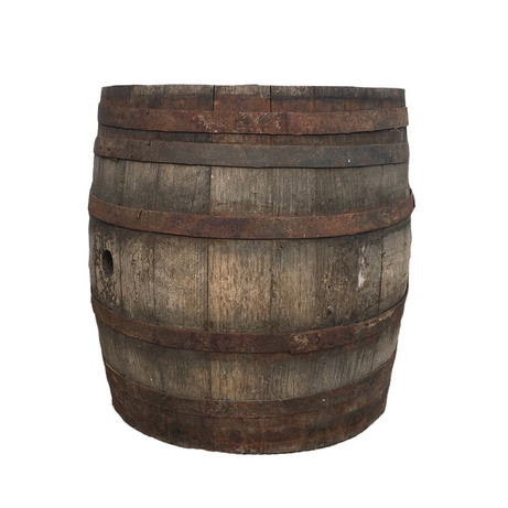 A smaller whiskey barrel.  Perfect for a side table or display.  Dimensions: 17 x18 Quantity:1