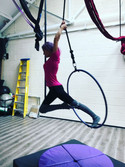All the C moves today in Aerial Hoop Cla