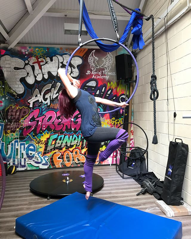 Gorgeous Shapes in today's aerial hoop c