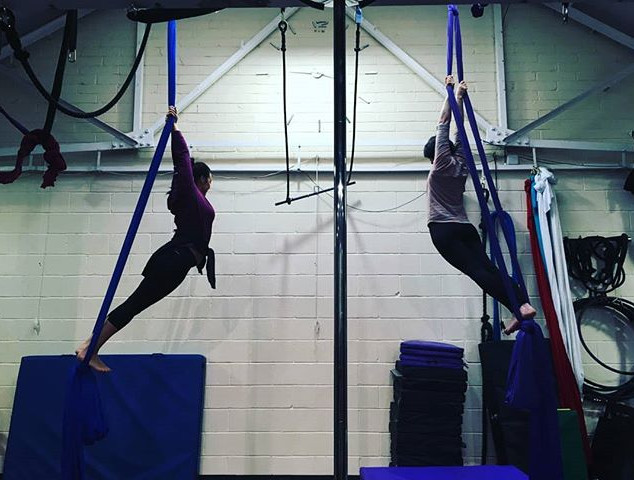 Amazing first daytime aerial silks class