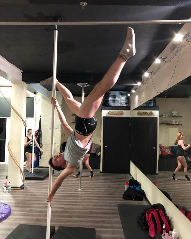 Last night's pole antics with our level
