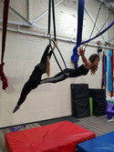 Lovely doubles day in Aerial Hoop Class