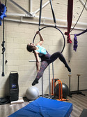 Amazing aerial hoop classes this morning