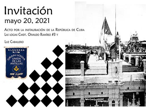 Acto por la instauración de la República de Cuba
