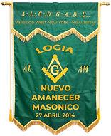 Estandarte Logia Nuevo Amanecer Masonico