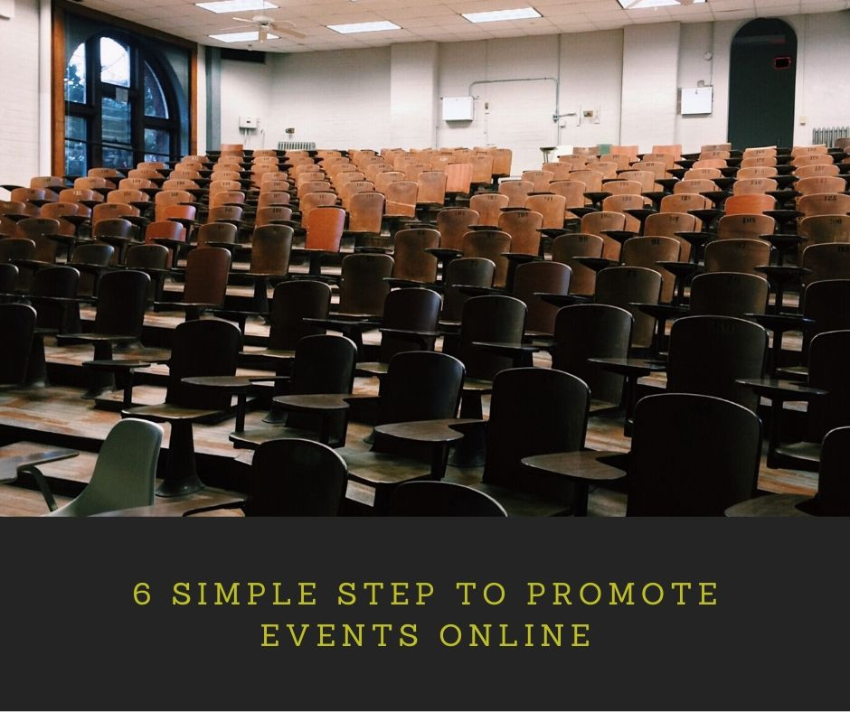 SIMPLE STEP TO PROMOTE EVENTS ONLINE