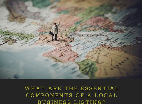 What are the Essential Components of a Local Business Listing?