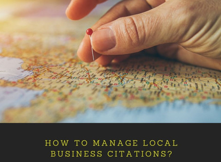 How to manage local business citations?