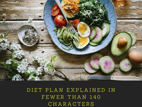Diet Plan Explained in Fewer than 140 Characters