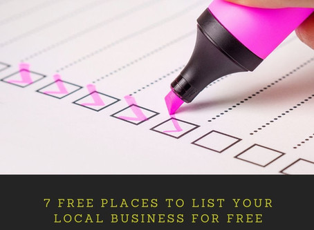 7 Free Places to List Your Local Business for Free