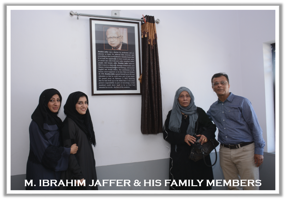 Mohammed Ibrahim Jaffer & his family