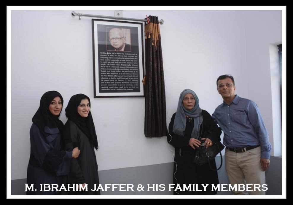 Mohammed Ibrahim Jaffer & his family
