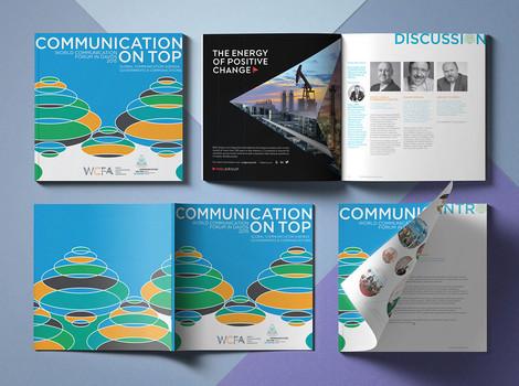Дизайн и верстка брошюр для World Сommunication Forum Association (WCFA)