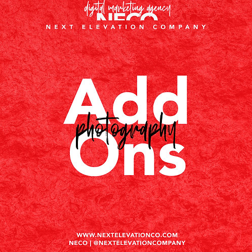 PHOTOGRAPHY ADD-ONS