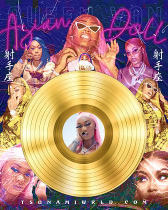 Asian Doll Vinyl Poster