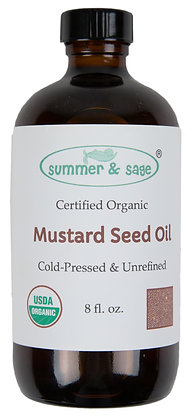 8 oz. Mustard Seed Organic Cold-Pressed Oil