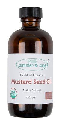 4 oz. Mustard Seed Organic Cold-pressed Oil