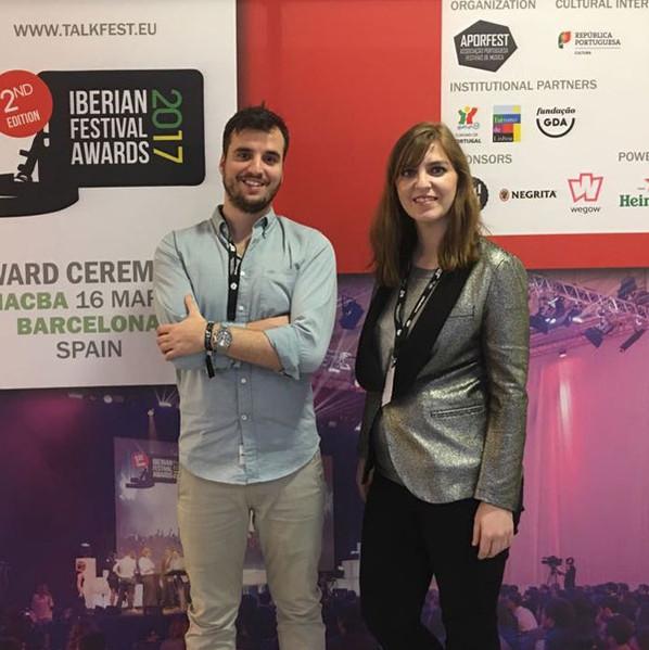 Apoio Hope na Angariação de Sponsor e Parceiros para o Talkfest e Iberian Festival Awards