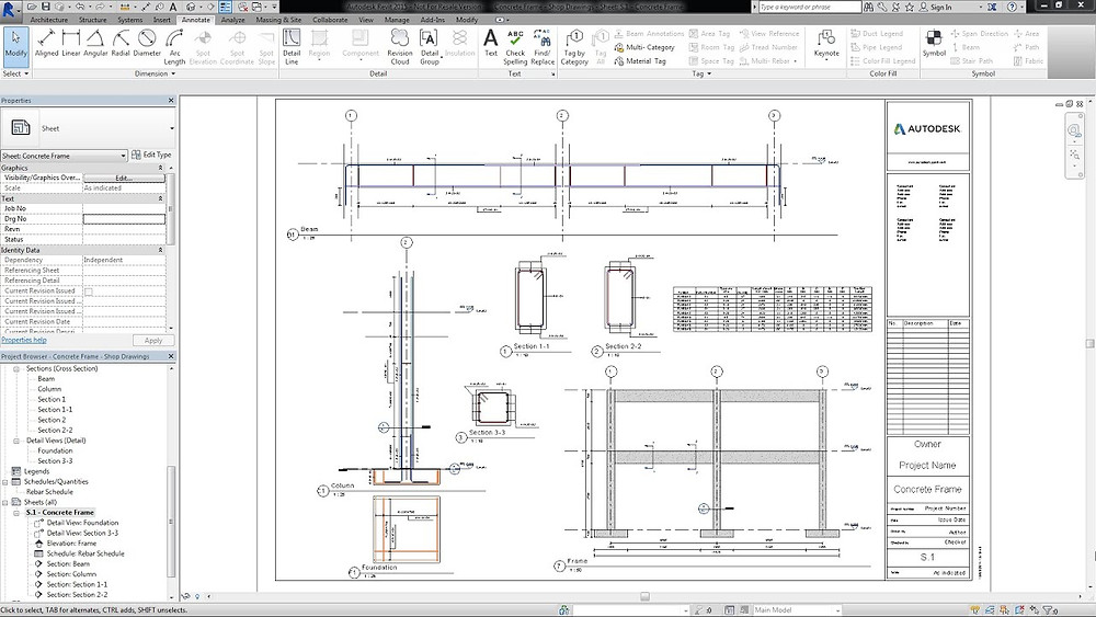 Shop Drawings and Rebar Schedules in Autodesk Revit