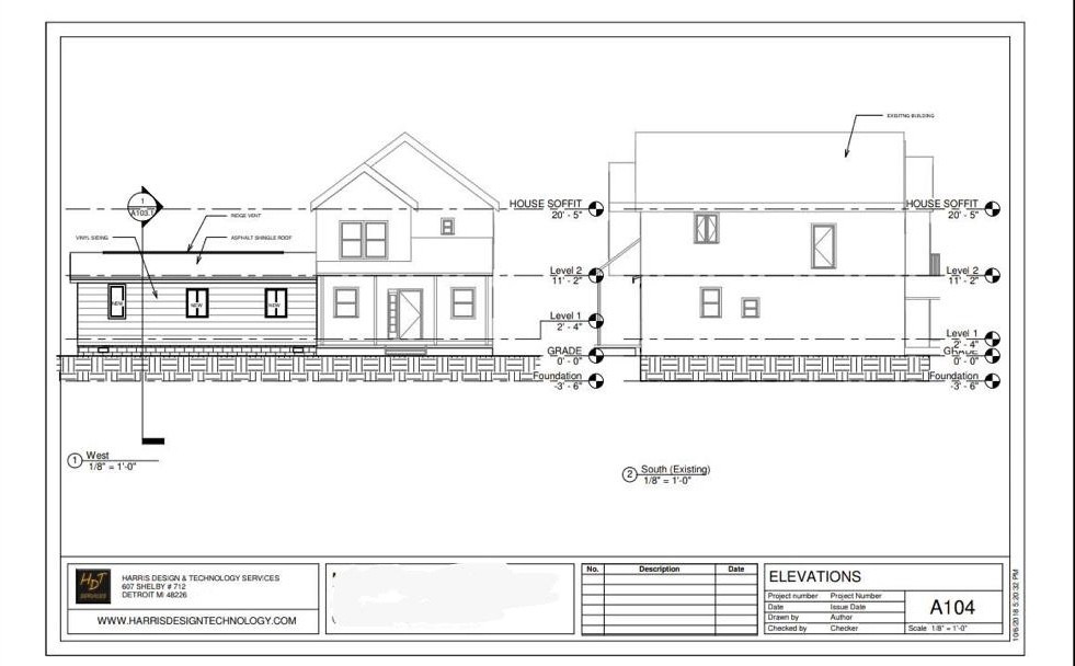 Remodel/Addition Plan Dimensions Elevation 1