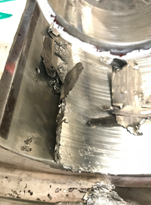 failure bearing due to incorrect trial weight
